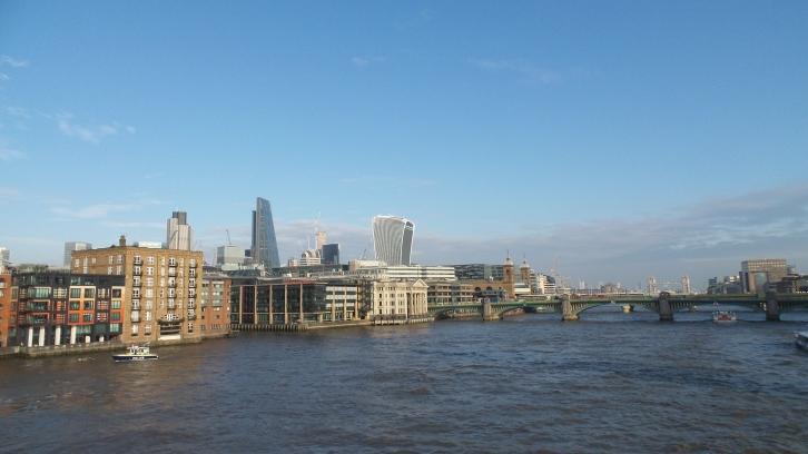 Vue du Millenium bridge, rive gauche (nord)