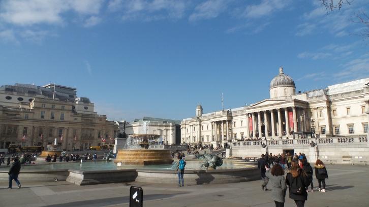 Trafalgar Square et la National Gallery