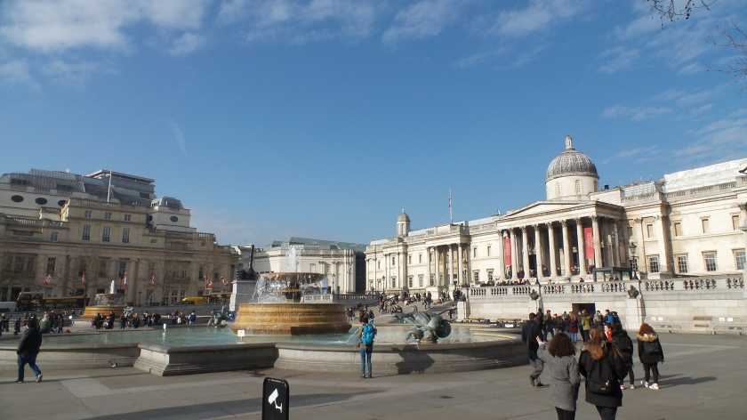 Trafalgar Square et la National Gallery