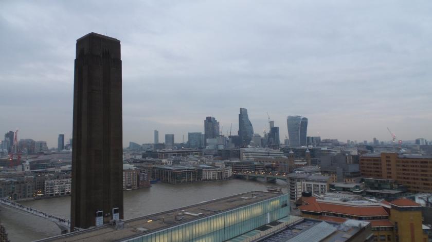Tate modern: vue de la terrasse du 10e étage